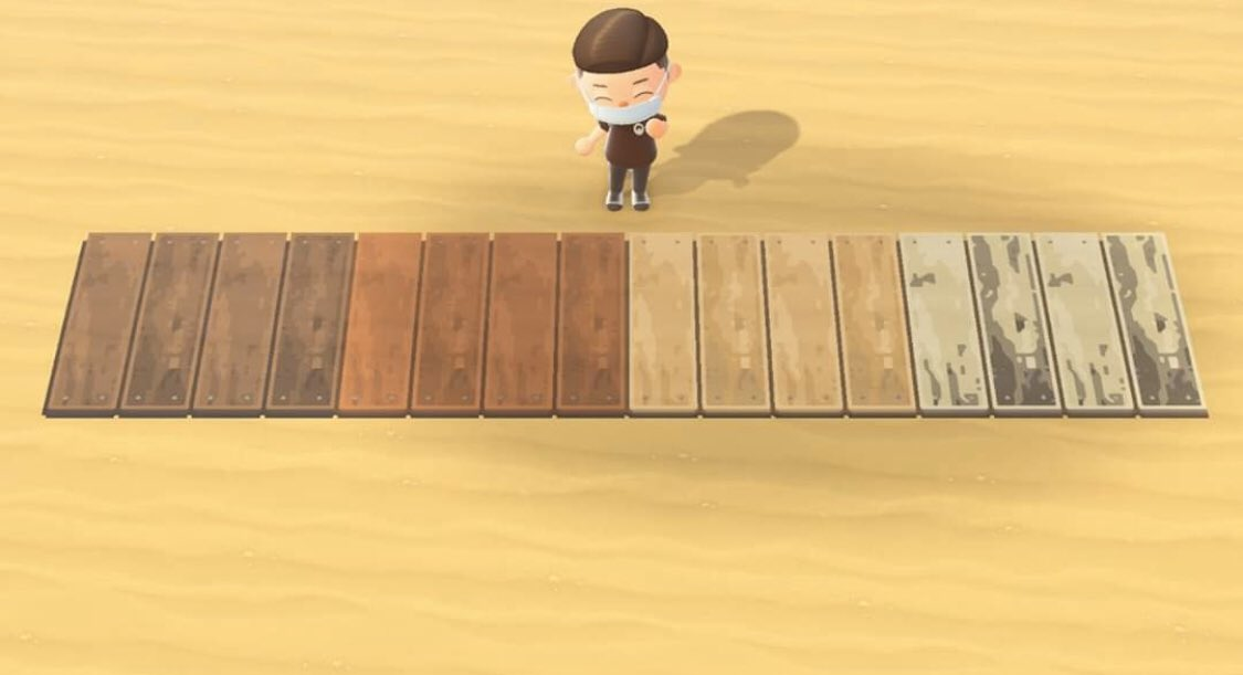 Animal Crossing wood paths