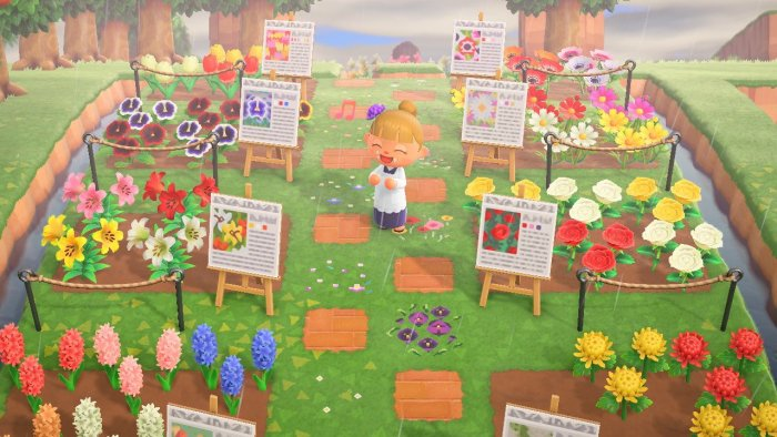 Animal Crossing garden botanical