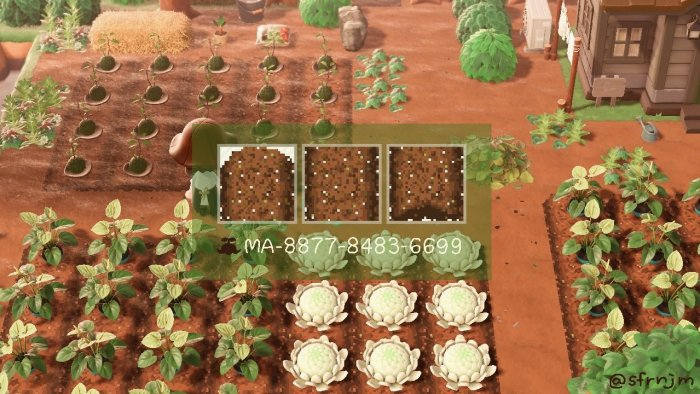 Tilled Soil for Animal Crossing garden