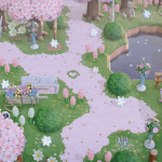 Animal Crossing cherry blossoms