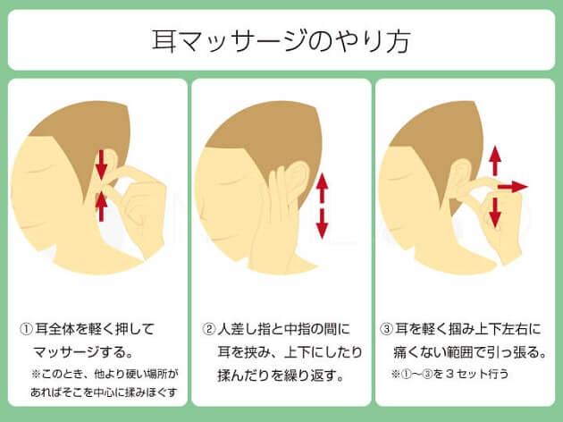 耳マッサージのやり方