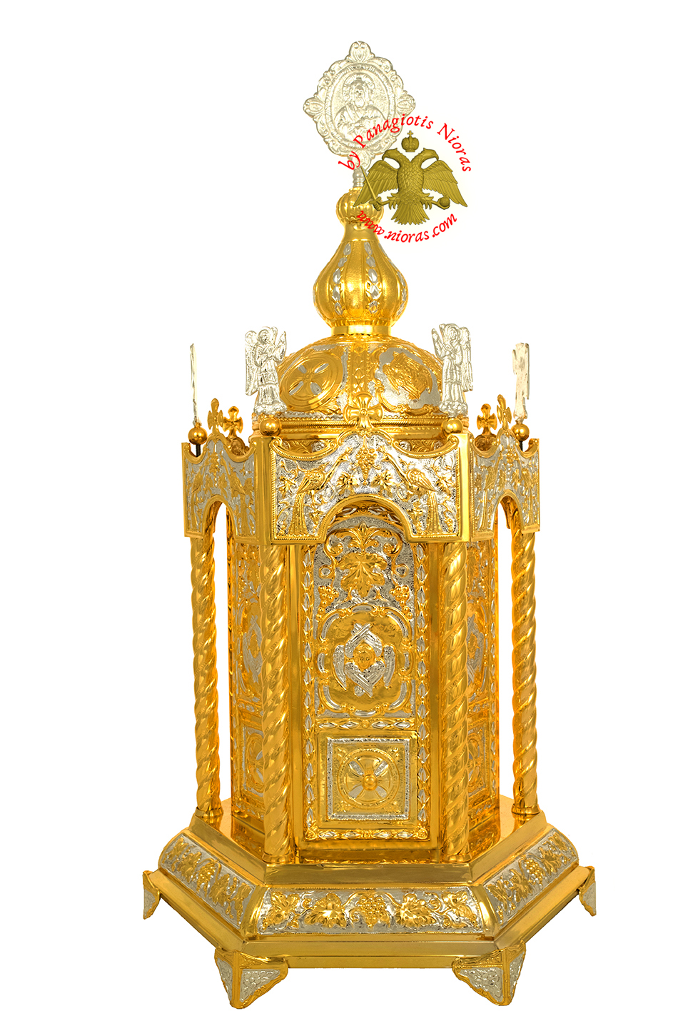 Holy Table Orthodox Tabernacle Hexagon With Angels Hexagon Base Gold and  Silver Plated, Holy Table Tabernacle, www.Nioras.com Online Orthodox Art  Store. Greek Orthodox Incense, Holy Icons, Church Supplies and more..  Praying that