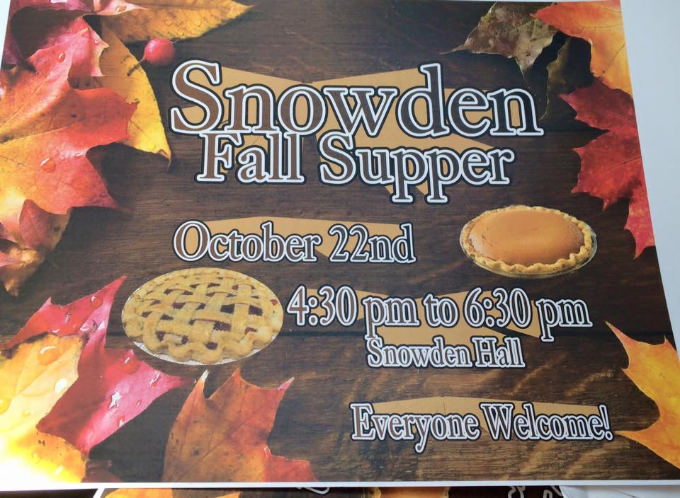 Snowden Fall Supper