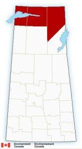 Environment Canada Snowfall warning for Northern Saskatchewan