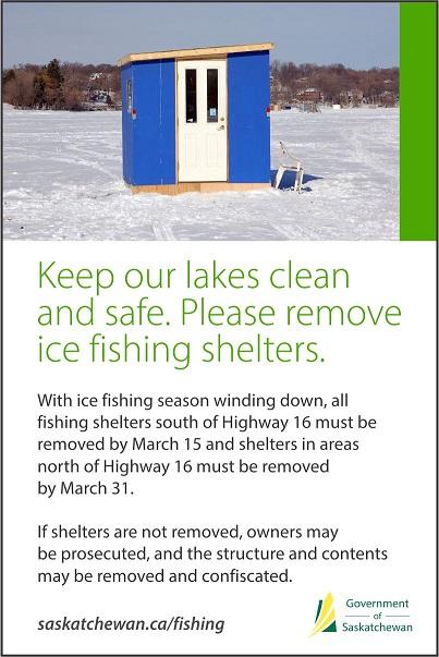 Ice Shelter Deadline