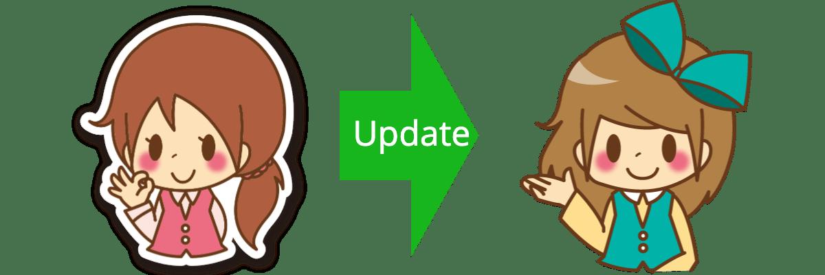 イメージキャラクターの変更