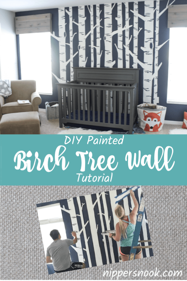 DIY Birch Tree Mural