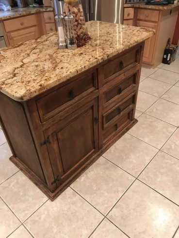 Kitchen Island Before Painting