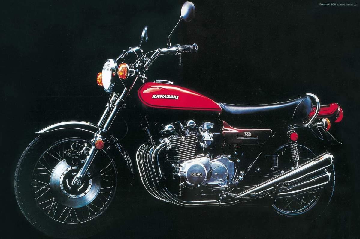 Prospekt Kawasaki 900 Z1 von 1972