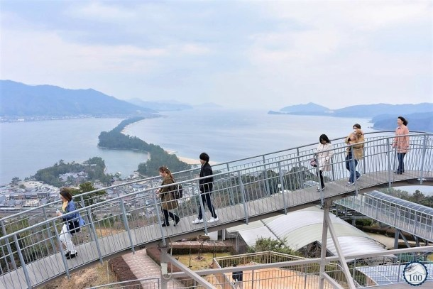 The Heaven's Bridge from the amusement park Amanohashidate Viewland.