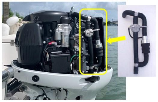صورة توضح شكل الجهاز بعد تركيبه داخل محرك خارجي | عبر سوزوكي