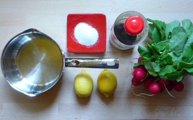 HATSUKADAIKON NO REMONZUKE - eingelegte Radieschen in Zitronensauce