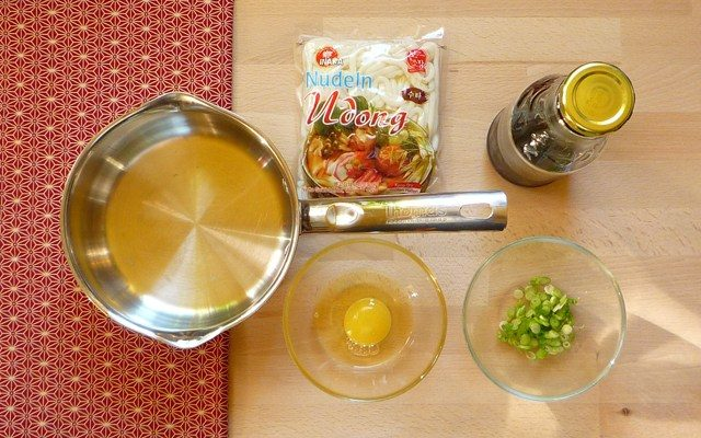 TAMAGOTOJI UDON - Udon Nudeln mit Eier-Decke