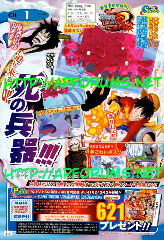 One Piece : Unlimited World R, Nintendo 3DS, Namco Bandai, Actu Jeux Video, Jeux Vidéo,