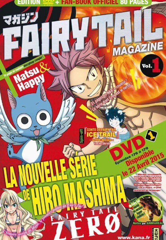 Actu Manga, Fairy Tail, Fairy Tail Ice Trail, Fairy Tail Magazine, Fairy Tail Zero, Hiro Mashima, Kana, Manga,