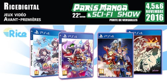 Paris Manga 2016, Rice Digital, Actu Jeux Vidéo, Jeux Vidéo,