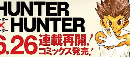 Hunter x Hunter, Yoshihiro Togashi, Manga, Actu Manga, Weekly Shonen Jump,