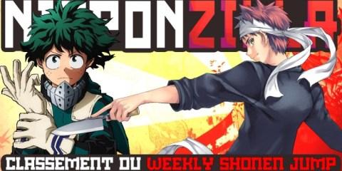 Découvrez le classement du Weekly Shonen Jump sur Nipponzilla, le meilleur site d'actualité manga, anime, jeux vidéo et cinéma