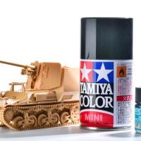 「黒は七難隠す!?」戦車模型のすみっコぐらしを先に塗っちゃおう!!