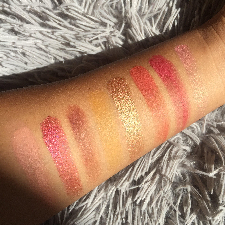Bretman Rock X colour pop Lit palette swatches - Nique's beauty