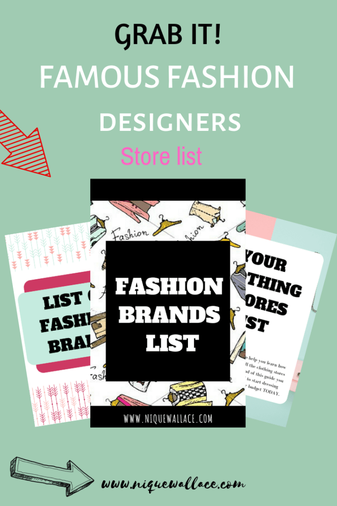 fashion brand list