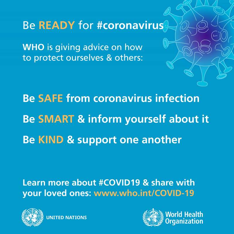Corona virus Do's and Dont's WHO poster