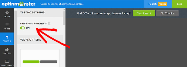 Floating bar yes/no enabled - How to Create Easy Notification Bars for Your Shopify/WooCommerce Website - OptinMonster - Niranjan - Niranninja