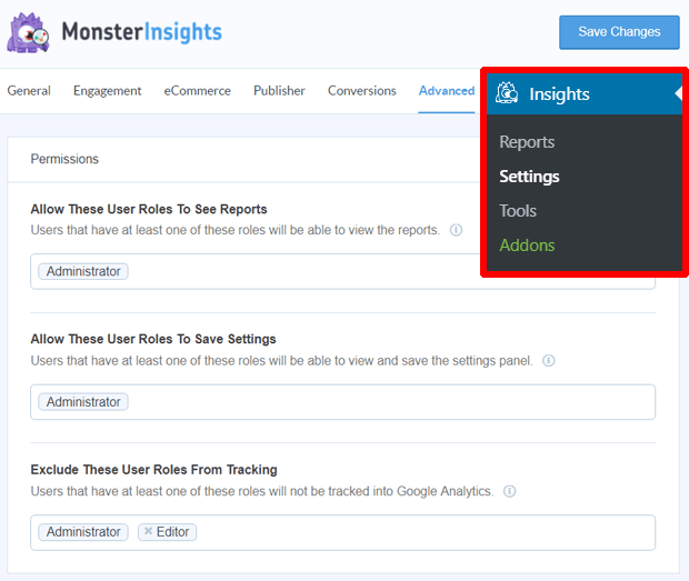 MonsterInsights Permissions - Niranjan - Niranninja