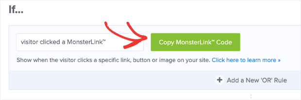 Copy MonsterLink code - How To Increase Conversions with Easy Multi-Step Popups with MonsterLinks -OptinMonster - Niranninja