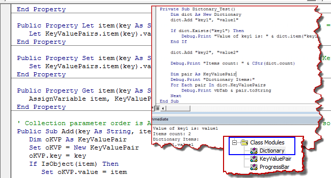 Dictionary in Excel VBA