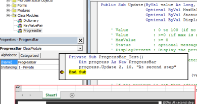 Use Statusbar as Progressbar in Excel VBA