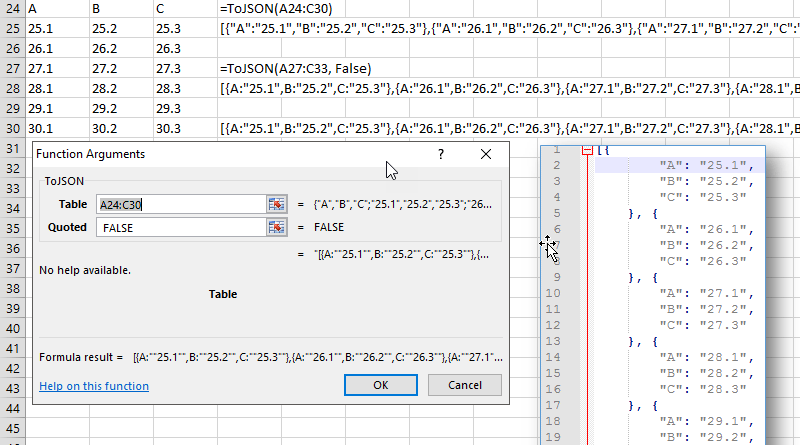 Convert Excel data to JSON CSV and XML format