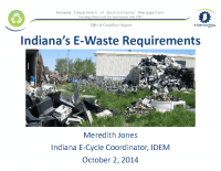 Indiana's E-Waste Requirements (Oct 2014)
