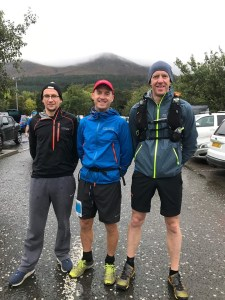 Connor Reid, Tim Lowry and William Fleck ahead of the Mourne Skyline MTR