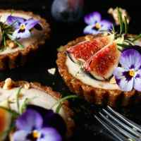 Raw Fig Walnut Cardamom Tarts (grain-free & vegan)