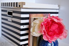 Kate Spade Inspired Black and White Striped Box