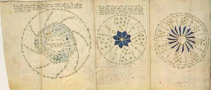 ভয়নিক পান্ডুলিপি: একপাতার ভিতরে ভাঁজ করা তিন পাতা (সংগ্রহ: bibliotecapleyades.net)