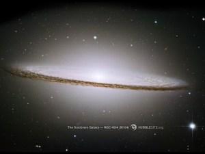 The Majestic Sombrero Galaxy (M104) (উৎস: hubblesite.org)