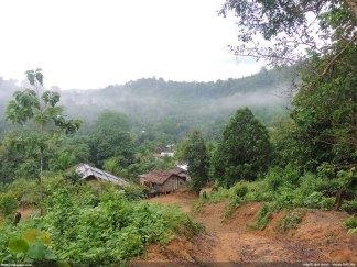 উপর থেকে দেখা চান্দা পাড়া - নিশাচর