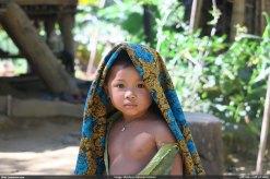 দলিয়ান পাড়ার এক পাহাড়ি শিশু (ছবি: মোহন)
