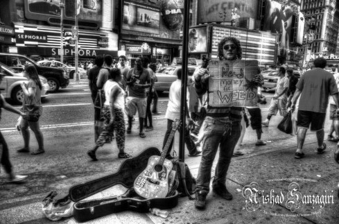 At Times Square.