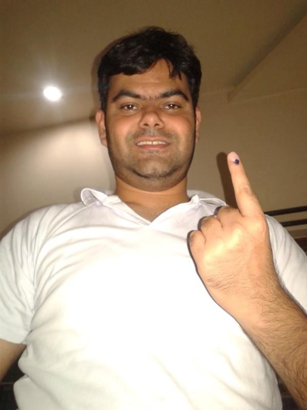Voting in Loksabha Election 2014.
