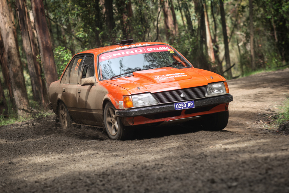 Rally photographer Holden Commodore