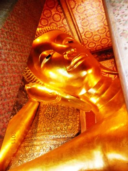 The Massive Golden Buddha - over 50 feet long