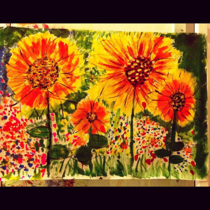 Sunflowers - Oil painting on canvas