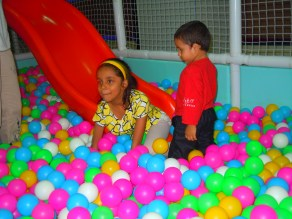 Playing with the balls and each other