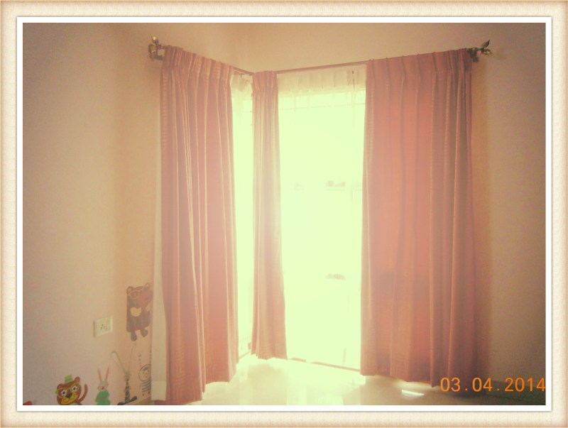 Softer Light After Adding Some Sweet Pink Drapes