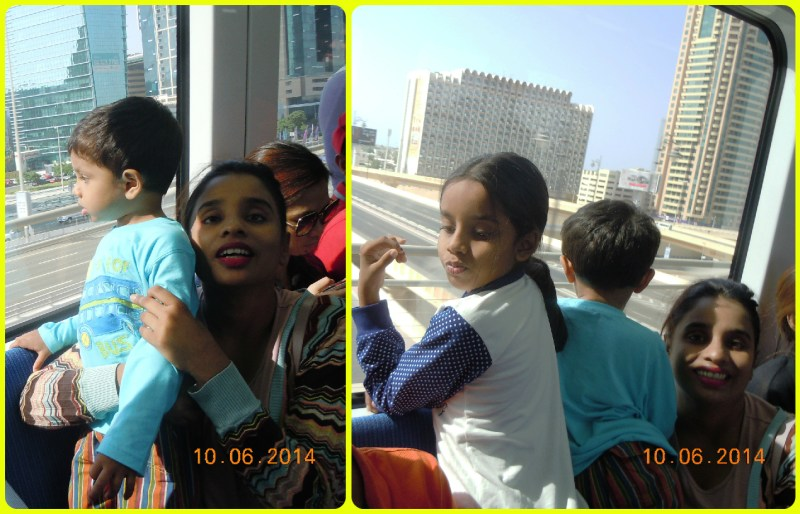 Trying to get the Burj Khalifa through the metro window and totally failing