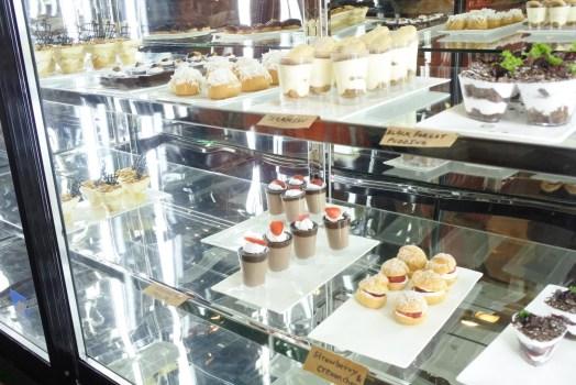 Variety of desserts on display