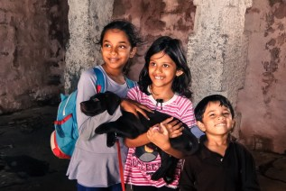Happy faces when we finally entered the fort and some shade